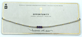 Opportunity Amethyst Choker Necklace Semiprecious stones Bloomingdales - $9.99