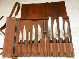 Chef Knife Roll Bag from Genuine Leather - $130.94