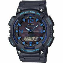 Casio Men's Tough Solar Quartz Watch Analog Digital Resin Black Blue AQS... - $55.66 CAD
