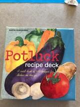 Recipe Deck Potluck 100 Recipe Cards by Marti Ladd Boston Warehouse - $9.89