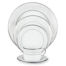 "KATE SPADE LENOX ""BONNABEL PLACE"" PLATES SET OF 2 MADE IN USA SILVER FLO... - $59.50"