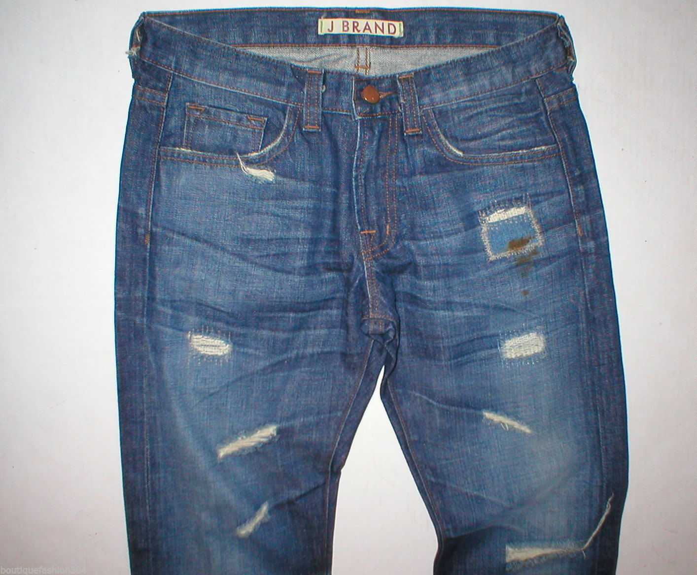 Destroy J Brand Jeans New 25 Distressed Tall 27 X 35 Womens Skinny Straight Dark image 2