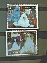 Ajman Set of 2 Stamps Cancelled Free Shipping #700106 - $1.98