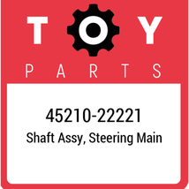 45210-22221 Toyota Shaft Assy Steering, New Genuine OEM Part - $270.67