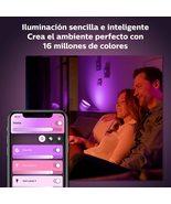 Philips Hue Iris Lámpara de Mesa Inteligente negra LED, con Bluetooth, L... - $249.00