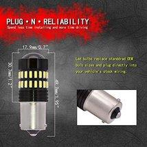 TUINCYN 1156 LED Bulbs White Brake Light BA15S 1141 1095 7506 1156A P21W 4014-48 image 3
