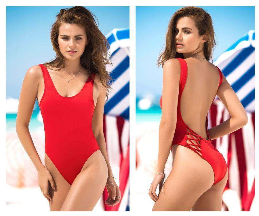 995c4f9ebc9 ONE PIECE SWIMSUIT CRISS CROSS BACK DETAIL COLOR RED MAPALE ...