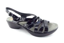 DANSKO Size 6 DANI Black Patent Strappy Sandals Shoes 36 - $54.00