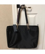 Tommy Hilfiger Black Signature Purse Handbag Tote New With Tags - $108.00
