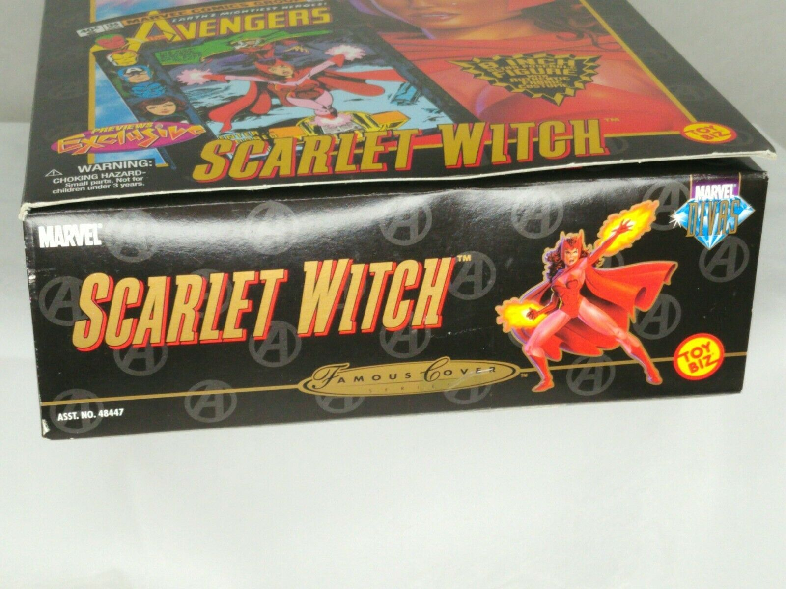 """Marvel Famous Cover Series 8"""" Ultra Poseable 2000 The Scarlet Witch #48449 NIP image 9"""