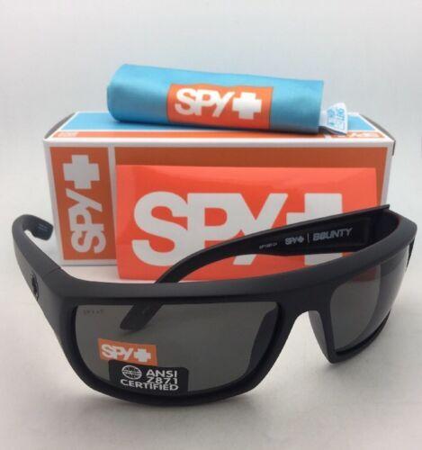 Polarizado Spy Optic Sol Bounty Negro Mate Marco con / Ansi Z87.1 Gris Lentes