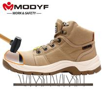 Cap Work Boots DESERT Fashion Toe Comfortable Safety Outdoor MODYF P Men's Steel IqwXf