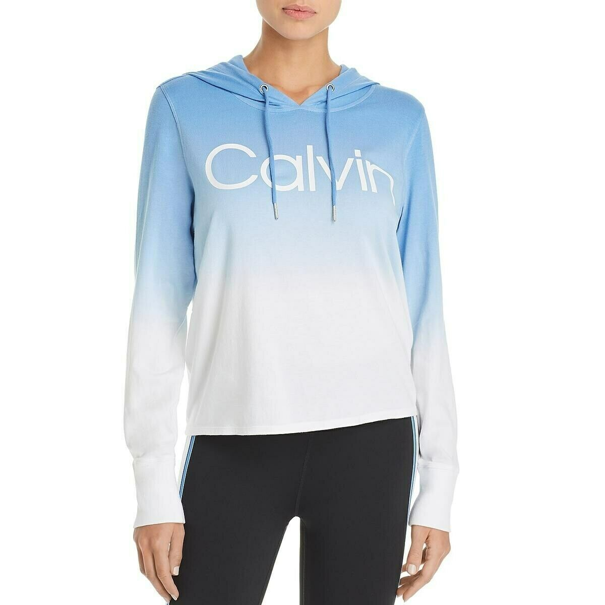 Primary image for Calvin Klein Performance Ombre Dip Dye Logo Hoodie, Blue, XS