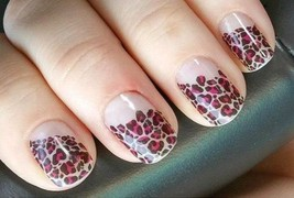 Jamberry Nails Half Sheet - Found - Pink & Clear Cheetah + Gift Accent Set - $9.74