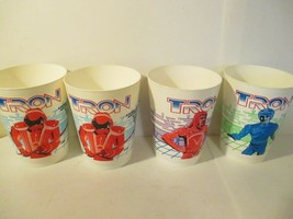Lot of 4 1981 Tron Walt Disney Coca Cola Movie Promotional Cups  - $49.50