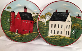 Lot Of Two Collector Plates Country Life Sakura Warren Kimble Brandon Ho... - $34.64