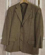 "ERMENEGILDO ZEGNA Pure Cashmere Men's Jacket 44"" Chest Tweed Blazer Spor... - $284.64"