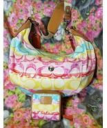 Coach Hampton Watercolor Scribble Hobo 11754 Matching Zip Around Wallet - $79.20