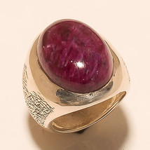Ring Ruby 925 Sterling Silver Beautiful Vintage Jewelry Ornament India M... - $379.05