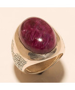 Ring Ruby 925 Sterling Silver Beautiful Vintage Jewelry Ornament India M... - $7.477,09 MXN