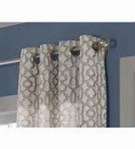 allen + roth Wrenbury 84-in Taupe Polyester Light Filtering Single Curtain Panel - $35.32