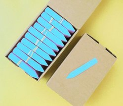 """200 Blue Plastic Plant Stakes Labels Nursery Tags - Made in USA - 4"""" X 5/8"""" - $21.78"""