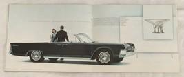 1963 Lincoln Continental Original Dealer Sales Brochure Car Auto Adverti... - $19.80