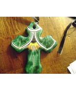 H Legamz Mexico Hand Painted Necklace pendant Cross - $8.50
