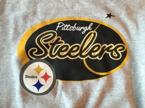 Primary image for PITTSBURGH STEELERS LOGO ATHLETIC SWEATSHIRT CREWNECK XL mint vtg 90's