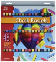 48 Soft Drawing Chalk Pastels in Brilliant Assorted Colors - $9.46