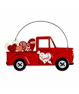 """Love Is Sweet"" Red Truck with Hearts Hanging Metal Sign 10"" X 4.5"" - $7.00"