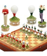 Golf Themed Chess Set . Resin Pieces / Wood Board and Box another strategy - $74.79