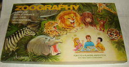 Vtg 1972 ZOOGRAPHY Amway Board Game COMPLETE Animal Cards Unpunched Unused - $24.99