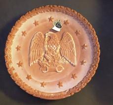 Fenton Eagle Plate FENTON Caramel Glass Eagle Bicentennial Plate - $29.20