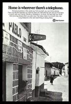 Bell System Telephone Village Sign 1977 Telecommunications Signage Photo... - $14.99