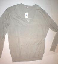 NWT New Womens Gap Sweater Linen Cotton Wide Sheer Stripe S Khaki Beige Tan Top - $18.00