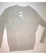 NWT New Womens Gap Sweater Linen Cotton Wide Sheer Stripe S Khaki Beige ... - $16.00