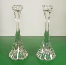 Mikasa Crystal PARK LANE Single Light Candlestick PAIR 2 Made in Germany... - $28.66