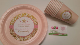 Twinkle twinkle little star birthday plates and cups - $34.64