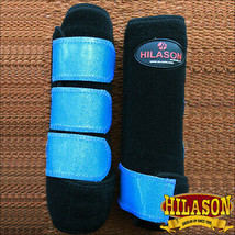 Lrg Hilason Infra-Tech Glitter Horse Rear Medicine Sports Boot Pair U-UR-L - $64.95