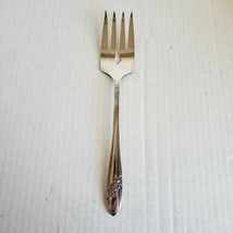 Oneida Community Meat Cold Serving Fork Queen Bess II Silverplate - $12.59