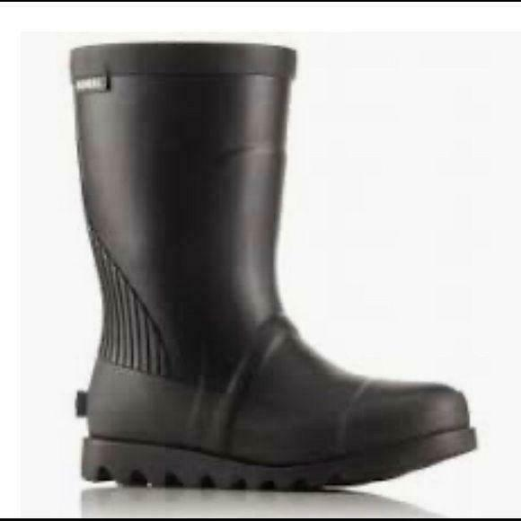Primary image for Sorel youth Black Sea salt Rubber Rain boots