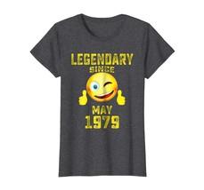 Uncle Shirts -   Emoji Legendary Since May 1979 39th Year 39 Birthday Sh... - $19.95+