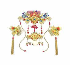 Classical Traditional Chinese Wedding Exquisite Hair Accessory With Hairpins image 2