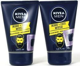 2 Nivea 3.38 Oz Men Clean Beard & Skin Comfort Face Wash 0% Ethylalcohol Formula - $23.99