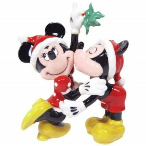 Mickey and Minnie Mouse Under Mistletoe Salt & Pepper Shakers Set, NEW SEALED