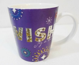 Starbucks Holiday 2006 Purple Wish Joy to the World Christmas Coffee Mug... - $25.97