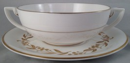 Royal Worcester china Saguenay cream soup bowl & saucer (6 avail.) FREE ... - $25.00