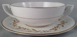 Royal Worcester china Saguenay cream soup bowl & saucer (6 avail.) FREE SHIPPING - $25.00