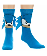 Sega Quilled Sonic The Hedgehog Crew Socks New Men's Size 10-13 Fashion... - $10.95